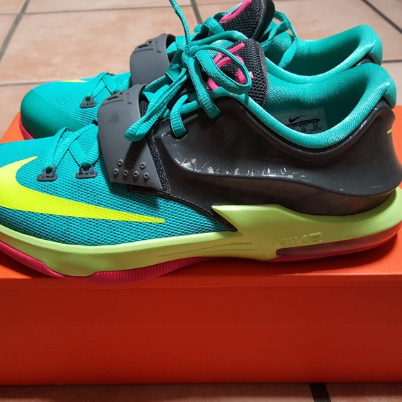 premium selection 979b7 cd460 ... italy kids nike kd 7 carnival sneakers size 5.5y 76ee0 667d7